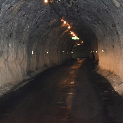 Underground Road showing reduced dust levels.