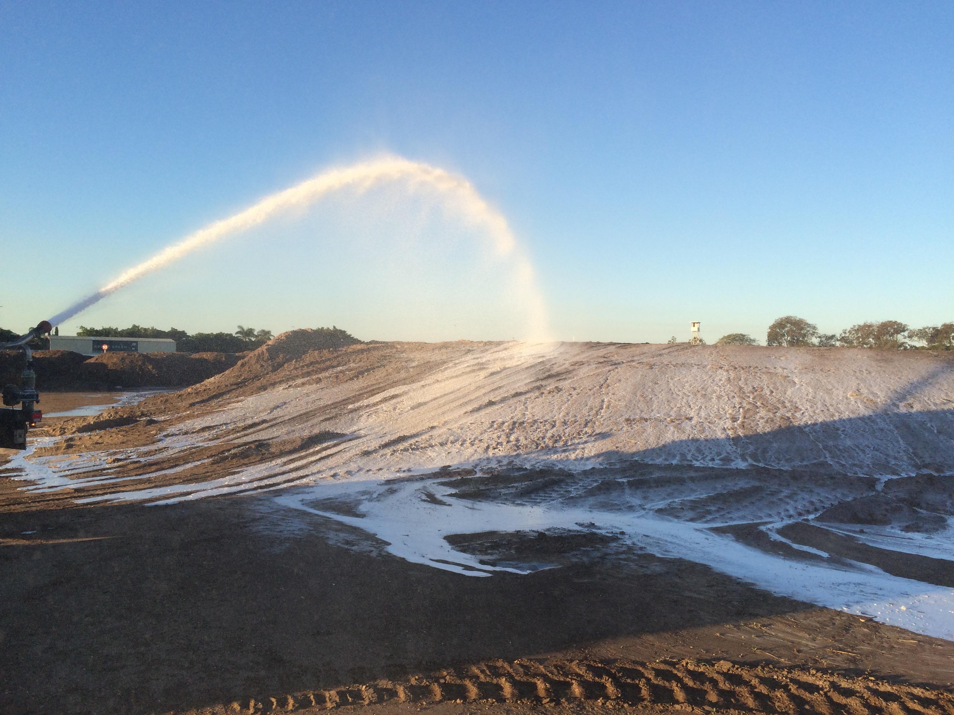 AquaTarp being applied at Eagle Farm