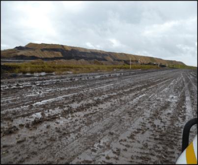 Wet Haul Road prior to wet season road stabilisation