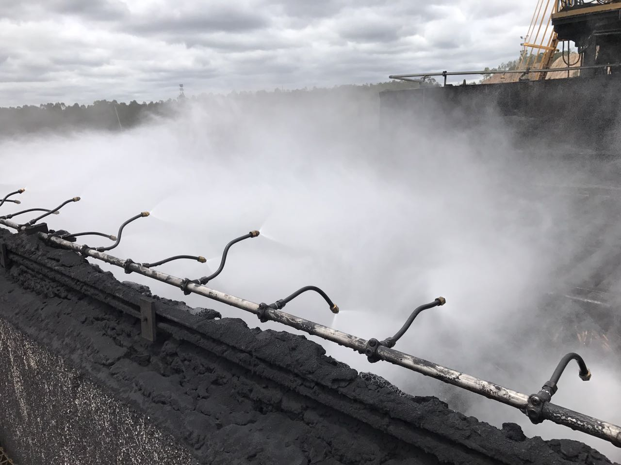 Custom Dust Suppression System in action